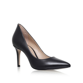 Bella - predominant colour: black; occasions: work; material: leather; heel height: high; heel: stiletto; toe: pointed toe; style: courts; finish: plain; pattern: plain; season: s/s 2016; wardrobe: investment