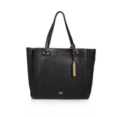 Livi Tote - predominant colour: black; occasions: casual; type of pattern: standard; style: tote; length: shoulder (tucks under arm); size: standard; material: leather; pattern: plain; finish: plain; season: s/s 2016