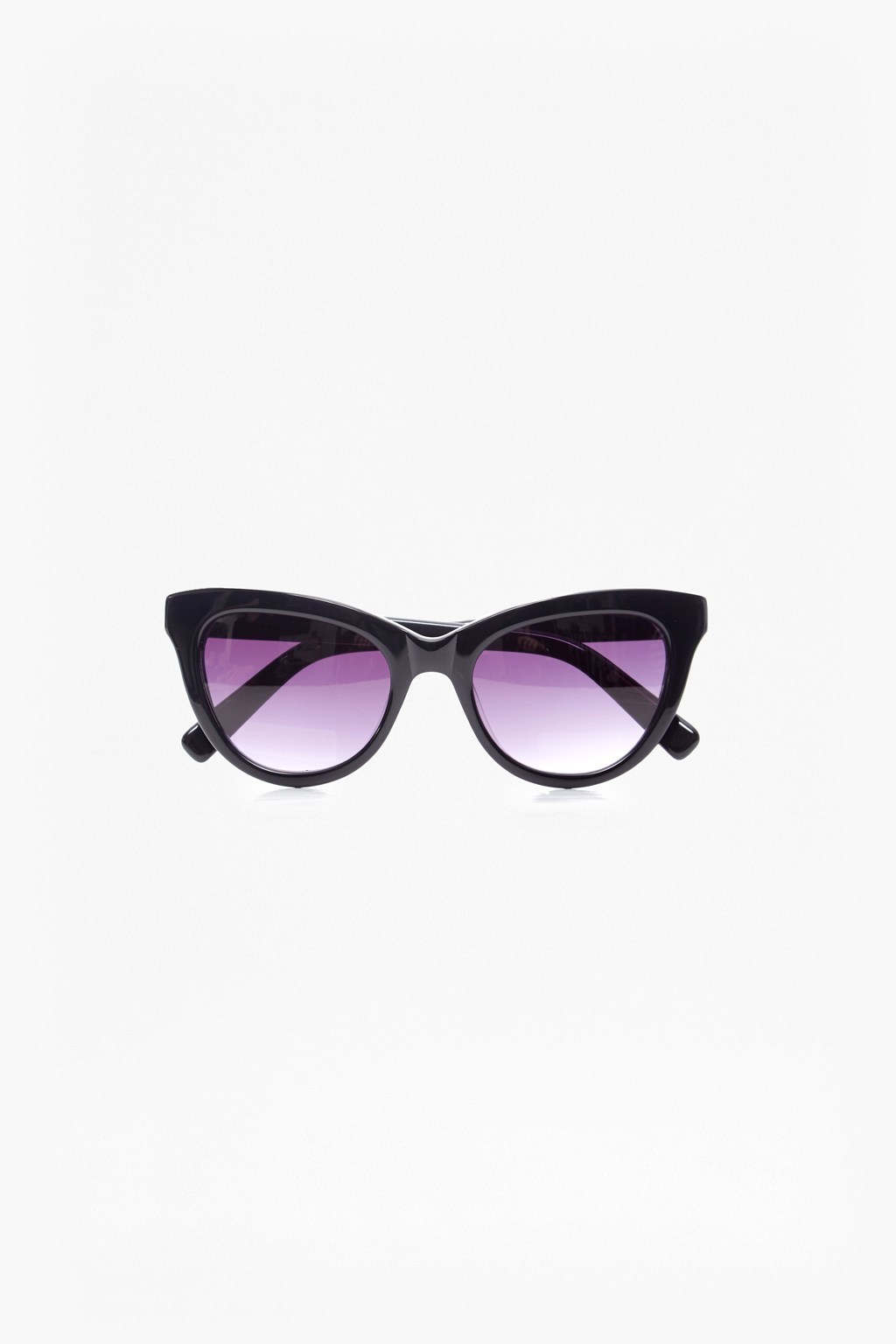 Cat Eye Sunglasses Black - predominant colour: black; occasions: casual, holiday; style: cateye; size: standard; material: plastic/rubber; pattern: plain; finish: plain; season: s/s 2016; wardrobe: basic