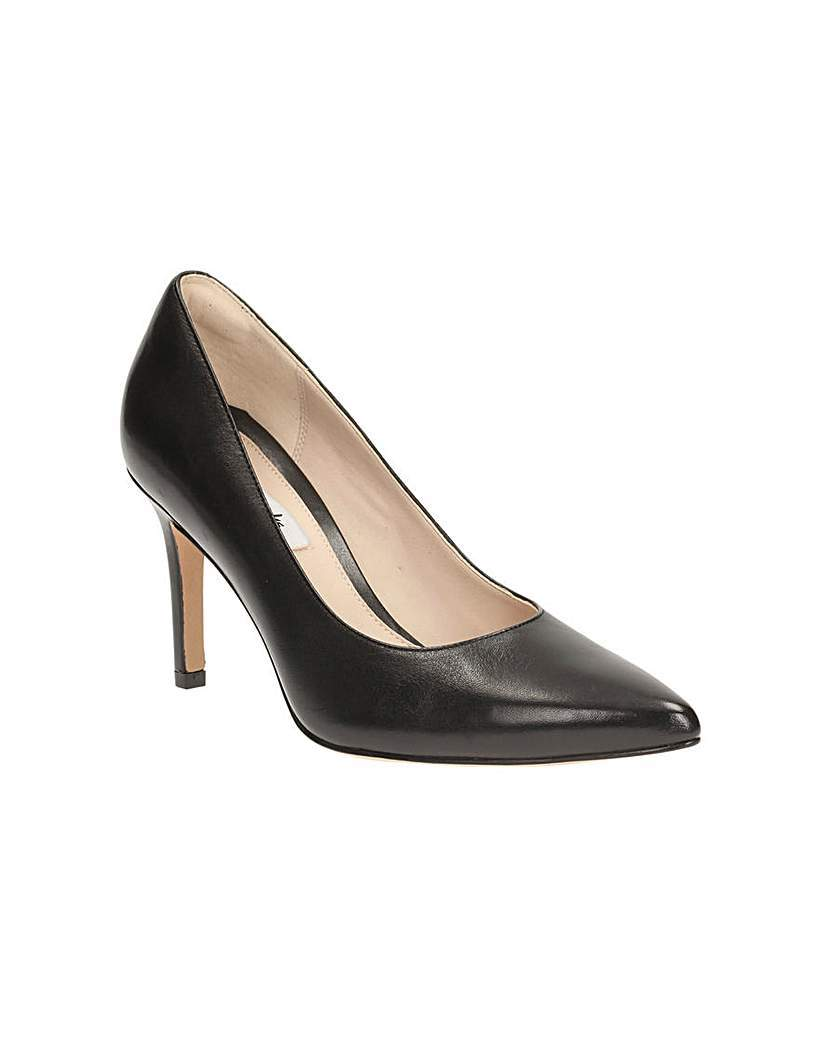 Dinah Keer Shoes - predominant colour: black; occasions: evening, occasion; material: leather; heel height: high; heel: stiletto; toe: pointed toe; style: courts; finish: plain; pattern: plain; season: s/s 2016; wardrobe: event