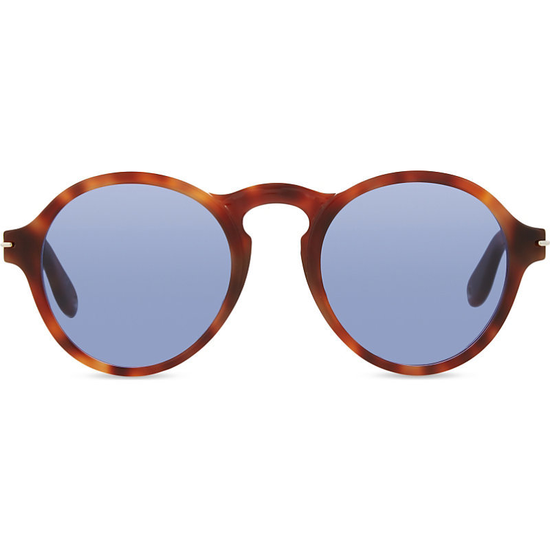 Gv7001 Havana Oval Frame Sunglasses, Women's - predominant colour: tan; occasions: casual, holiday; style: round; size: standard; material: plastic/rubber; pattern: tortoiseshell; finish: plain; season: s/s 2016