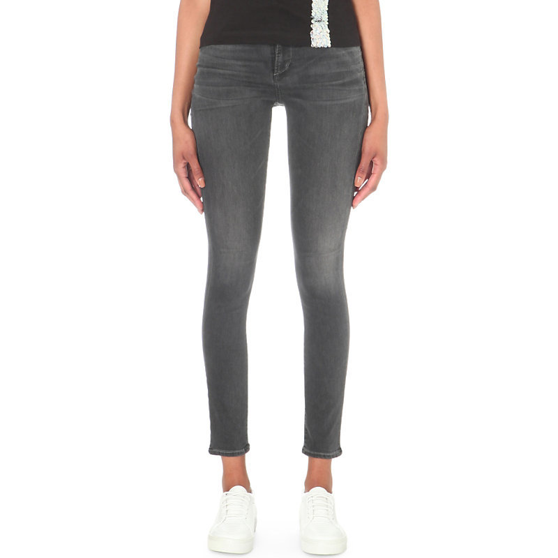 Rocket Super Skinny High Rise Jeans, Women's, Decibel - style: skinny leg; length: standard; pattern: plain; pocket detail: traditional 5 pocket; waist: mid/regular rise; predominant colour: charcoal; occasions: casual; fibres: cotton - stretch; texture group: denim; pattern type: fabric; season: s/s 2016; wardrobe: highlight