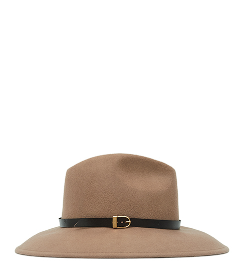 Patty Felt Fedora - predominant colour: camel; occasions: casual; type of pattern: standard; style: fedora; size: standard; material: felt; pattern: plain; embellishment: buckles; season: s/s 2016; wardrobe: highlight
