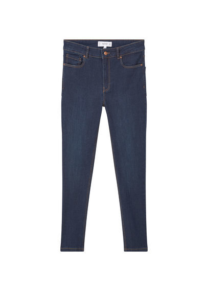 Skinny Noa Jeans - style: skinny leg; length: standard; pattern: plain; pocket detail: traditional 5 pocket; waist: mid/regular rise; predominant colour: navy; occasions: casual; fibres: cotton - stretch; jeans detail: dark wash; texture group: denim; pattern type: fabric; season: s/s 2016; wardrobe: basic