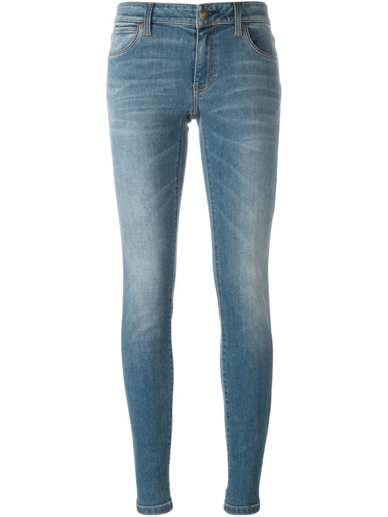 Skinny Fit Jeans, Women's, Blue - style: skinny leg; length: standard; pattern: plain; pocket detail: traditional 5 pocket; waist: mid/regular rise; predominant colour: denim; occasions: casual; fibres: cotton - stretch; jeans detail: whiskering; texture group: denim; pattern type: fabric; season: s/s 2016; wardrobe: basic