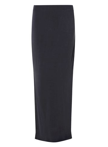 Womens **Vero Moda Navy Maxi Skirt Blue - pattern: plain; length: ankle length; fit: body skimming; waist: mid/regular rise; predominant colour: navy; occasions: casual; style: maxi skirt; fibres: cotton - stretch; texture group: jersey - clingy; pattern type: fabric; season: s/s 2016; wardrobe: basic