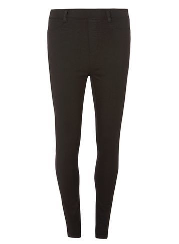 Womens **Tall Black H Igh Waisted Eden Ultra Soft Jeggings Black - pattern: plain; waist: mid/regular rise; predominant colour: black; occasions: casual, creative work; length: ankle length; fibres: cotton - stretch; texture group: denim; fit: slim leg; pattern type: fabric; style: standard; season: s/s 2016; wardrobe: basic