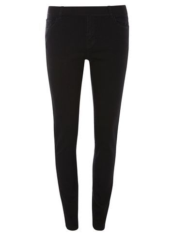 Womens Black 'eden' Ultra Soft Jeggings Black - length: standard; pattern: plain; style: leggings; waist: mid/regular rise; predominant colour: black; fibres: cotton - stretch; texture group: jersey - clingy; fit: skinny/tight leg; pattern type: fabric; occasions: creative work; season: s/s 2016; wardrobe: basic