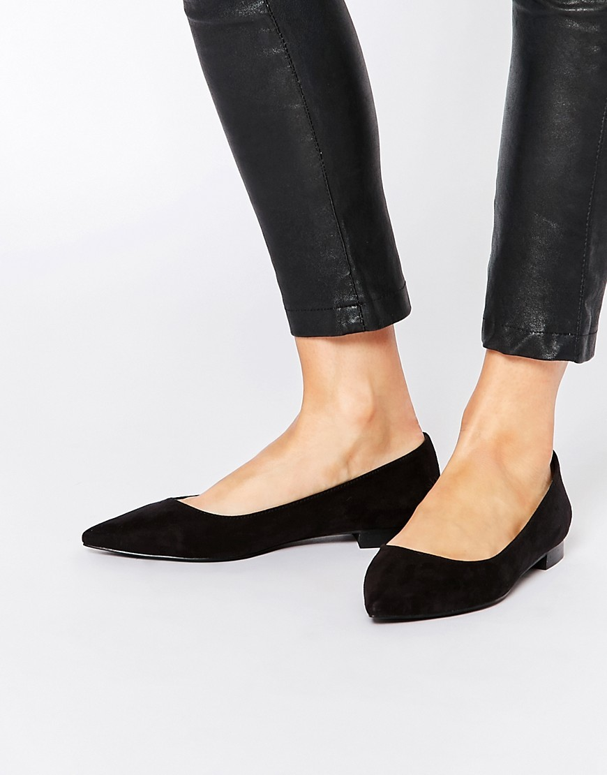 Lost Pointed Ballet Flats Black - predominant colour: black; occasions: casual; material: fabric; heel height: flat; toe: pointed toe; style: ballerinas / pumps; finish: plain; pattern: plain; season: s/s 2016