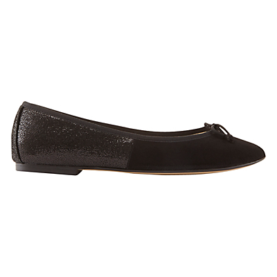 Charli Flat Ballet Pumps, Black - predominant colour: black; occasions: casual, work, creative work; material: leather; heel height: flat; toe: pointed toe; style: ballerinas / pumps; finish: plain; pattern: plain; season: s/s 2016; wardrobe: basic