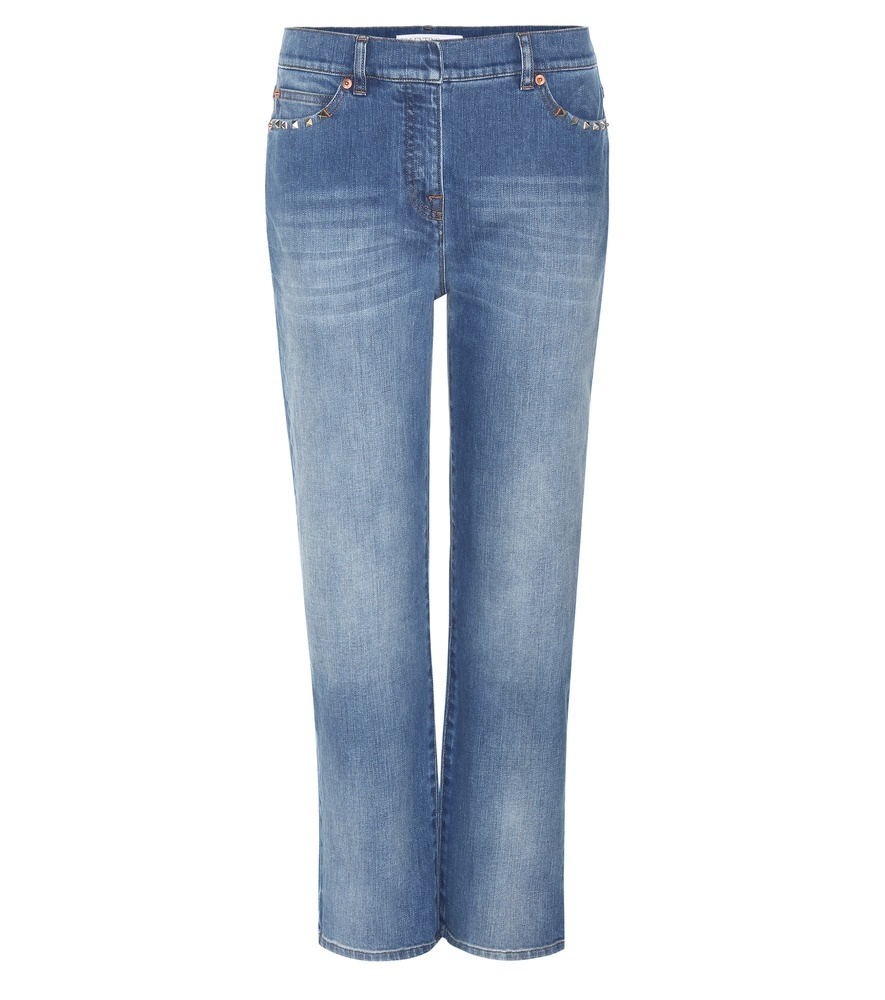 Rockstud Untitled Jeans - style: boyfriend; length: standard; pattern: plain; waist: mid/regular rise; predominant colour: denim; occasions: casual; fibres: cotton - stretch; jeans detail: whiskering, shading down centre of thigh; texture group: denim; pattern type: fabric; season: s/s 2016; wardrobe: basic