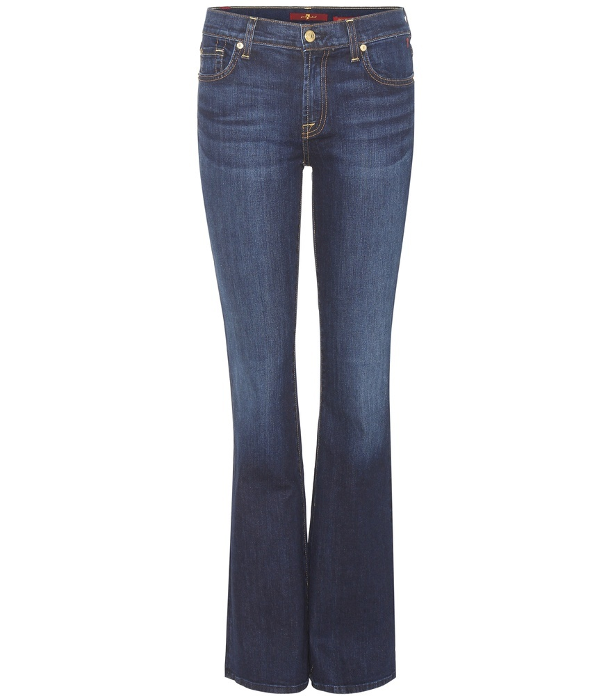 The Classic Bootcut Jeans - style: bootcut; length: standard; pattern: plain; waist: high rise; predominant colour: denim; occasions: casual; fibres: cotton - stretch; texture group: denim; pattern type: fabric; season: s/s 2016; wardrobe: basic