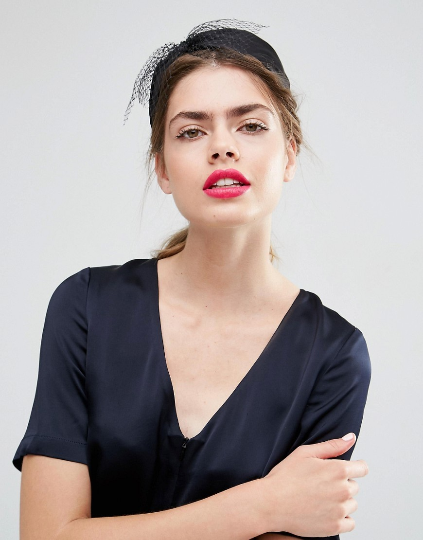 Limited Edition Bow Veil Headband Black - predominant colour: black; occasions: occasion; type of pattern: standard; style: fascinator; size: small; material: sinamay; pattern: plain; season: s/s 2016; wardrobe: event
