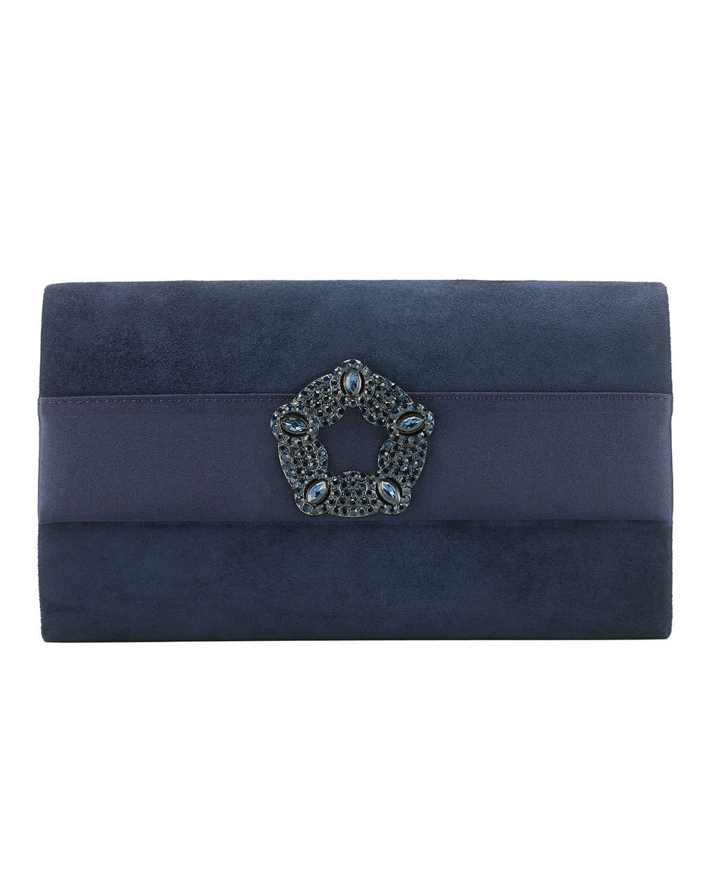 Georgie Suede Clutch - predominant colour: navy; occasions: evening, occasion; type of pattern: standard; style: clutch; length: hand carry; size: small; material: suede; pattern: plain; finish: plain; season: s/s 2016