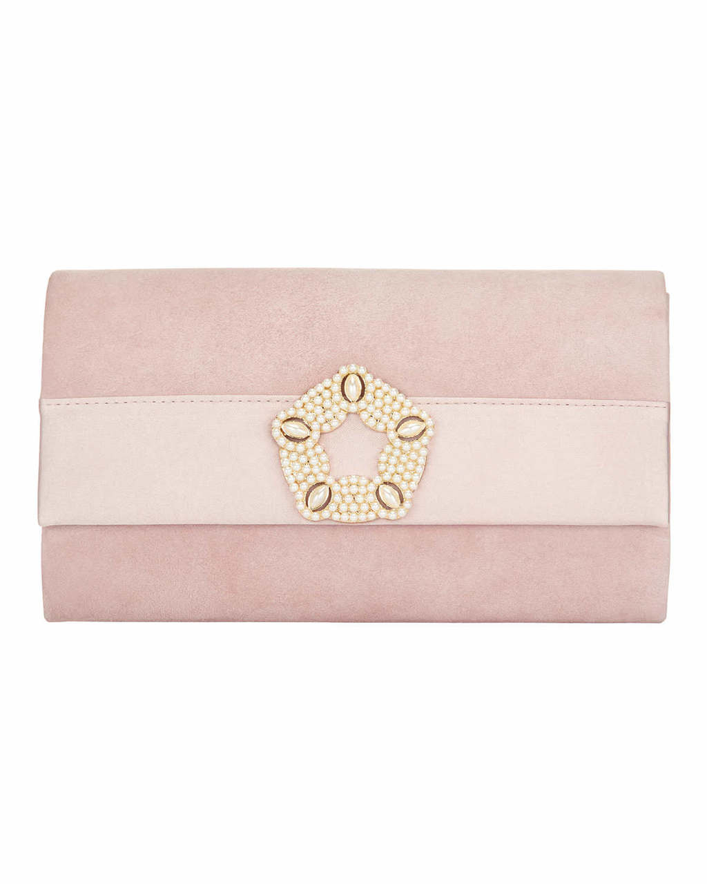 Georgie Suede Clutch - predominant colour: blush; occasions: evening, occasion; type of pattern: standard; style: clutch; length: hand carry; size: small; material: suede; pattern: plain; finish: plain; season: s/s 2016; wardrobe: event
