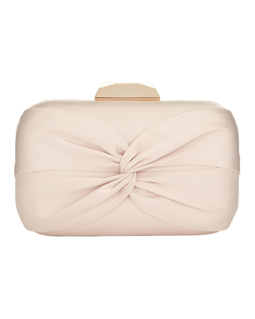 Gina Satin Clutch - predominant colour: blush; occasions: occasion; type of pattern: standard; style: clutch; length: hand carry; size: mini; material: satin; pattern: plain; finish: plain; season: s/s 2016; wardrobe: event