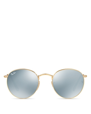Round Sunglasses, 50mm - predominant colour: gold; occasions: casual, holiday; style: round; size: standard; material: chain/metal; pattern: plain; finish: metallic; season: s/s 2016