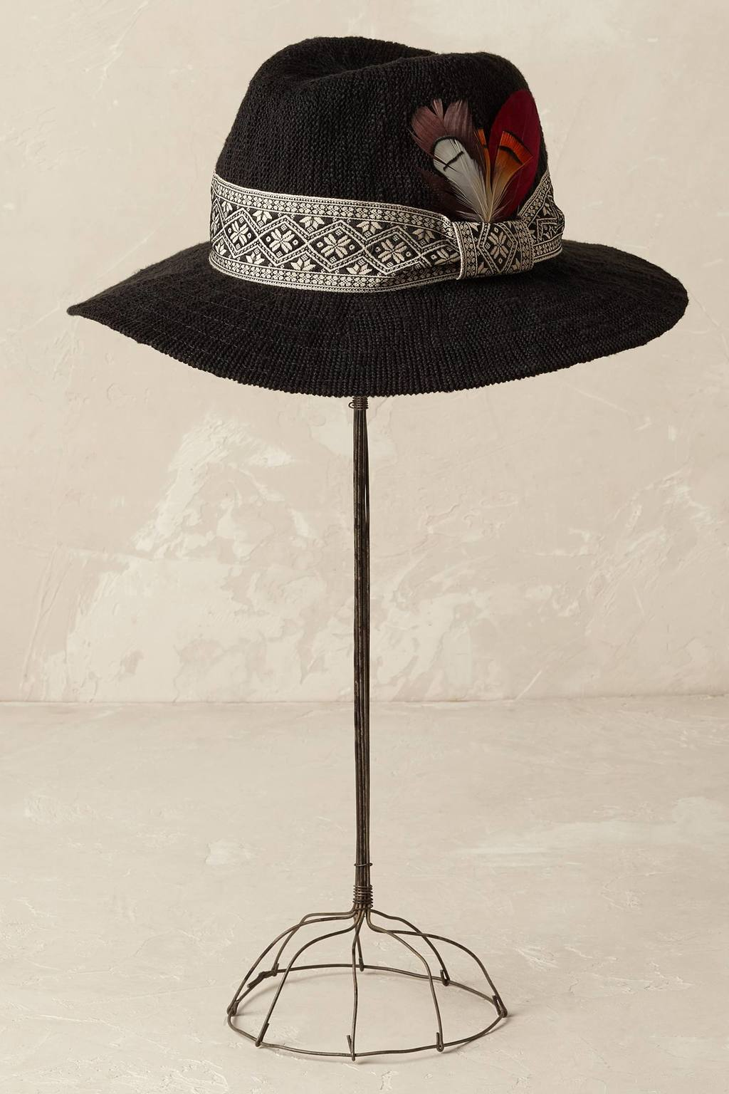 Charlie Rancher Hat - predominant colour: black; occasions: casual, holiday; type of pattern: standard; style: small brimmed; size: standard; material: macrame/raffia/straw; pattern: plain; season: s/s 2016; wardrobe: holiday