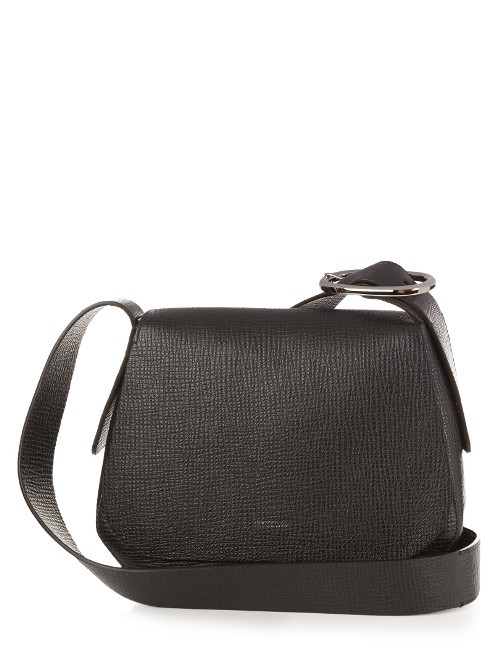Luigi Cross Body Bag - predominant colour: black; occasions: casual, creative work; type of pattern: standard; style: saddle; length: across body/long; size: small; material: leather; pattern: plain; finish: plain; season: s/s 2016; wardrobe: basic