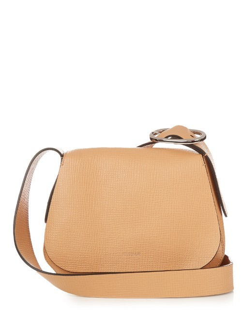 Luigi Cross Body Bag - predominant colour: camel; occasions: casual, creative work; type of pattern: standard; style: shoulder; length: across body/long; size: standard; material: leather; pattern: plain; finish: plain; season: s/s 2016; wardrobe: investment