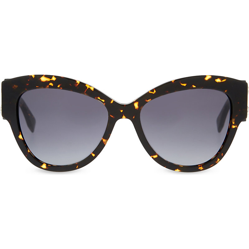 Brown Cat Eye Sunglasses, Women's, Tortoise Black - predominant colour: black; occasions: casual, holiday; style: cateye; size: standard; material: plastic/rubber; pattern: tortoiseshell; finish: plain; season: s/s 2016