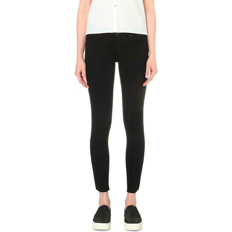 Krista Super Skinny Low Rise Jeans, Women's, Raven - style: skinny leg; length: standard; pattern: plain; pocket detail: traditional 5 pocket; waist: mid/regular rise; predominant colour: black; occasions: casual; fibres: cotton - stretch; texture group: denim; pattern type: fabric; season: s/s 2016; wardrobe: basic
