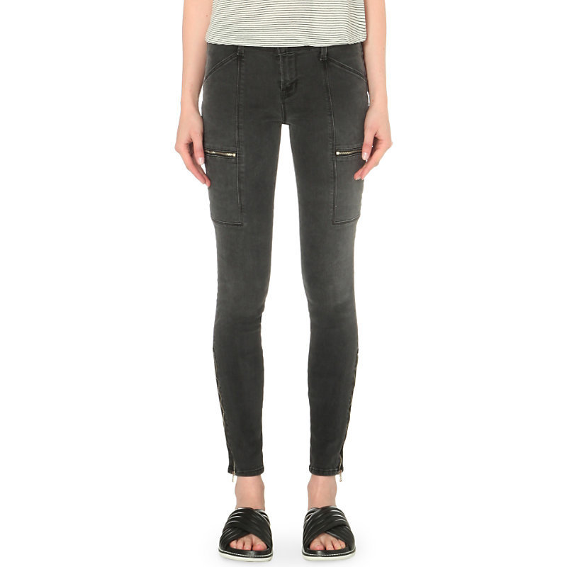 Kassidy Skinny Mid Rise Jeans, Women's, Grey Cascade - length: standard; pattern: plain; style: slim leg; waist: mid/regular rise; predominant colour: charcoal; occasions: casual; fibres: cotton - stretch; texture group: denim; pattern type: fabric; season: s/s 2016
