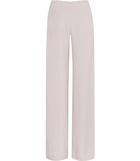 Becci Wide Leg Trousers - length: standard; pattern: plain; waist: mid/regular rise; predominant colour: blush; occasions: evening; fibres: viscose/rayon - 100%; fit: wide leg; pattern type: fabric; texture group: woven light midweight; style: standard; season: s/s 2016; wardrobe: event