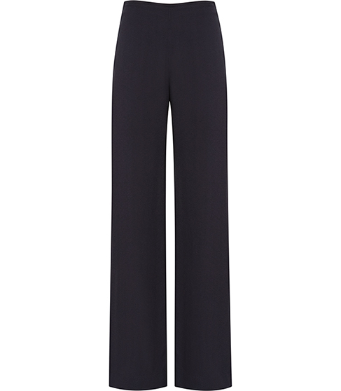 Becci Wide Leg Trousers - length: standard; pattern: plain; waist: mid/regular rise; predominant colour: black; occasions: evening; fibres: viscose/rayon - 100%; fit: wide leg; pattern type: fabric; texture group: woven light midweight; style: standard; pattern size: standard (bottom); season: s/s 2016; wardrobe: event