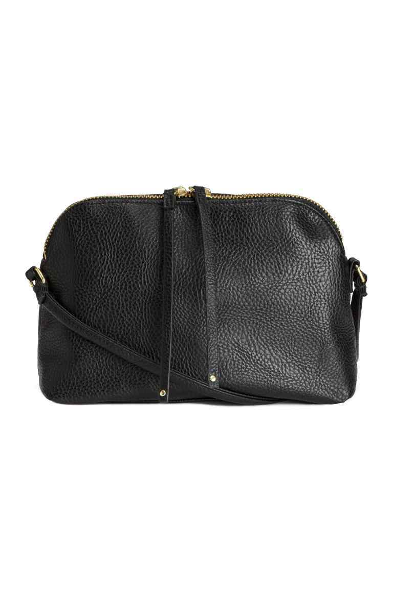 Small Shoulder Bag - predominant colour: black; occasions: casual, creative work; type of pattern: standard; style: shoulder; length: across body/long; size: standard; material: faux leather; pattern: plain; finish: plain; season: s/s 2016; wardrobe: investment