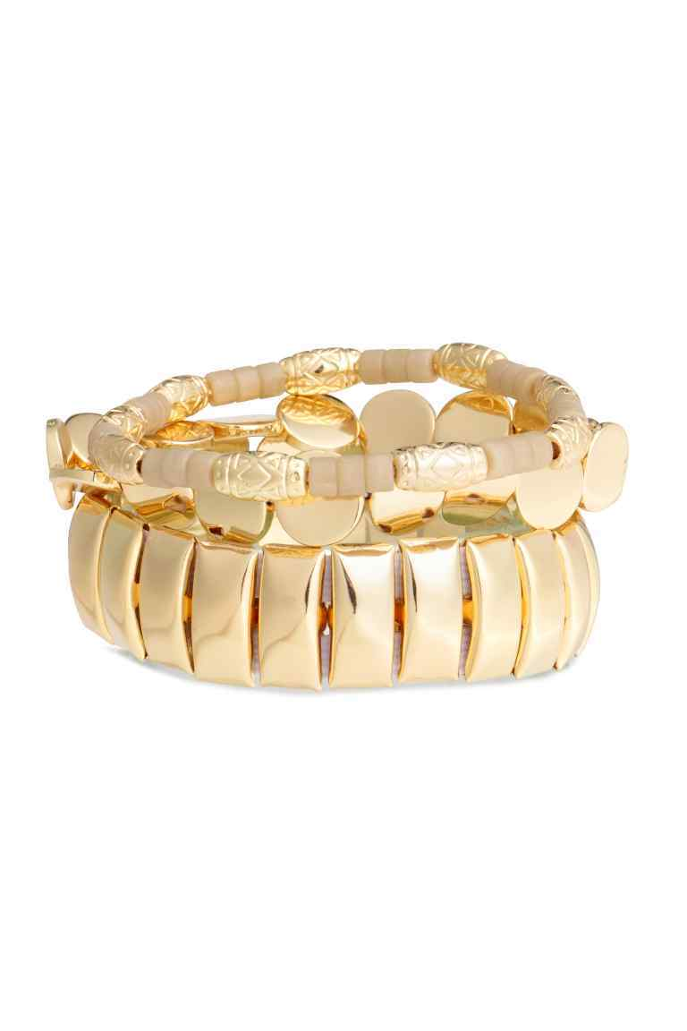 3 Pack Bracelets - predominant colour: gold; occasions: evening, occasion; style: bangle/standard; size: standard; material: chain/metal; finish: metallic; season: s/s 2016; wardrobe: event