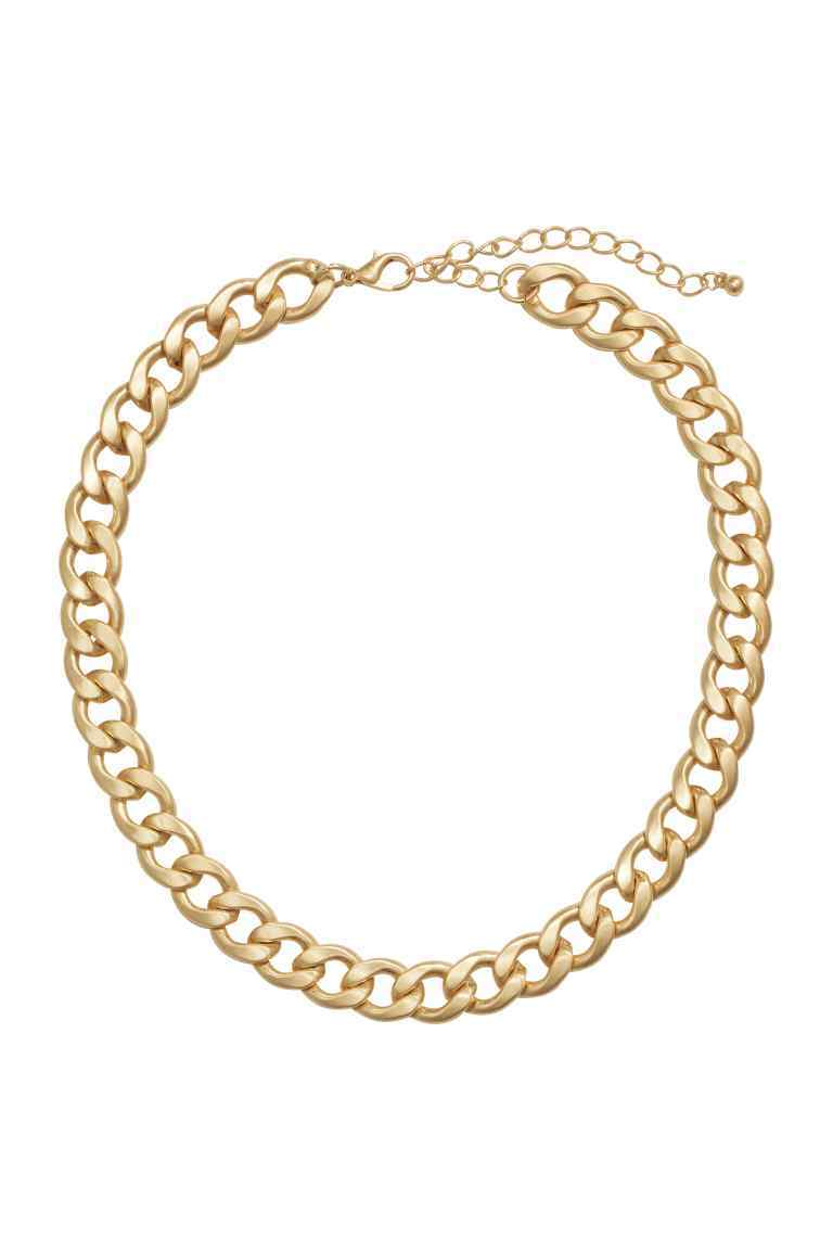 Short Necklace - predominant colour: gold; occasions: evening, occasion; style: choker/collar/torque; length: short; size: standard; material: chain/metal; finish: metallic; season: s/s 2016