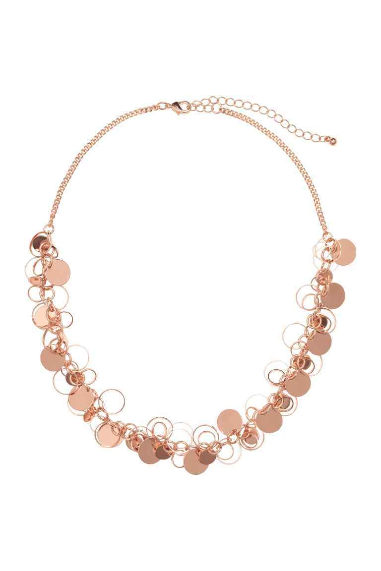 Short Necklace - predominant colour: gold; occasions: evening, occasion; style: choker/collar/torque; length: short; size: standard; material: chain/metal; finish: metallic; season: s/s 2016; wardrobe: event