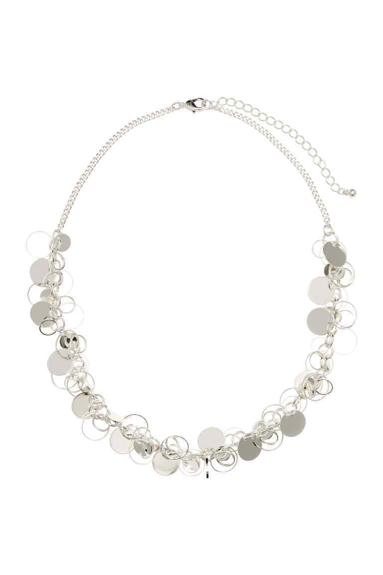Short Necklace - predominant colour: silver; occasions: evening, occasion; style: choker/collar/torque; length: short; size: standard; material: chain/metal; finish: plain; season: s/s 2016