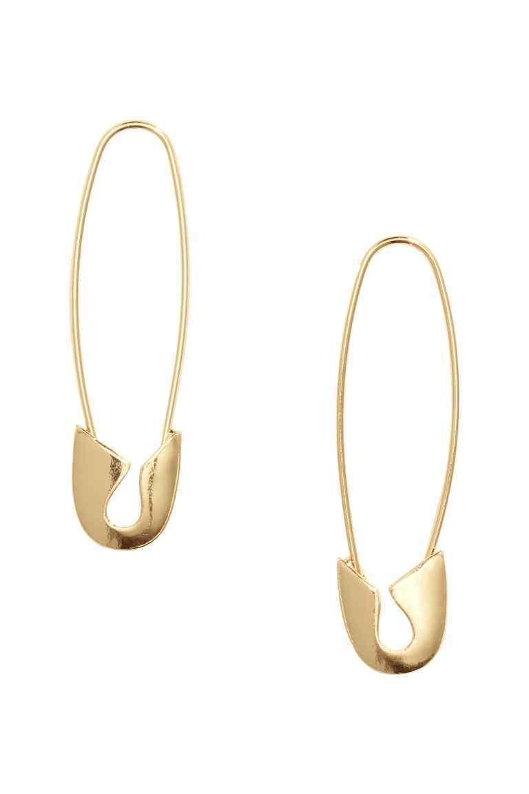 Earrings - predominant colour: gold; occasions: evening, occasion; style: drop; length: mid; size: standard; material: chain/metal; fastening: pierced; finish: metallic; season: s/s 2016; wardrobe: event