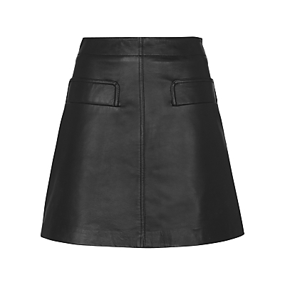 Rita Leather Skirt - length: mid thigh; pattern: plain; fit: loose/voluminous; waist: high rise; predominant colour: black; occasions: casual, creative work; style: a-line; fibres: leather - 100%; texture group: leather; pattern type: fabric; season: s/s 2016; wardrobe: highlight