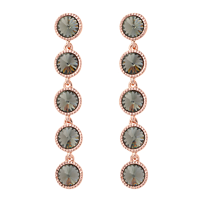 Rizza Rivoli Crystal Long Drop Earrings, Rose Gold - predominant colour: gold; occasions: evening, occasion; style: drop; length: long; size: large/oversized; material: chain/metal; fastening: pierced; finish: plain; embellishment: jewels/stone; season: s/s 2016