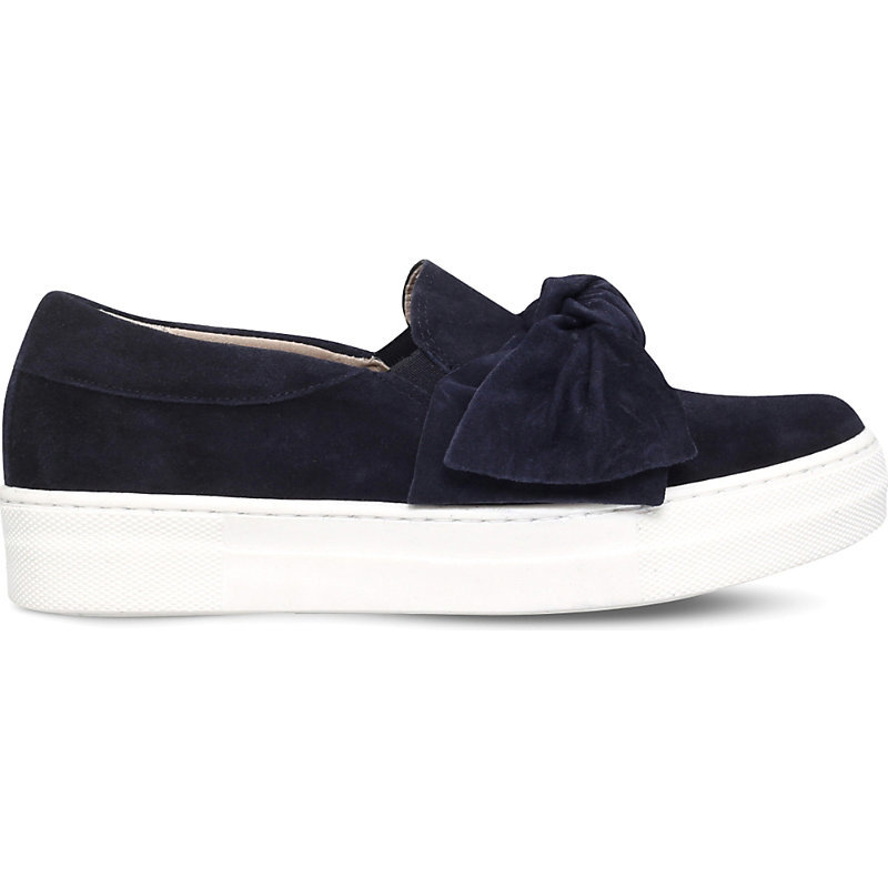 Little Suede Bow Skate Shoes, Women's, Eur 38 / 5 Uk Women, Blue - predominant colour: navy; occasions: casual, creative work; material: suede; heel height: flat; toe: round toe; style: trainers; finish: plain; pattern: plain; embellishment: bow; season: s/s 2016
