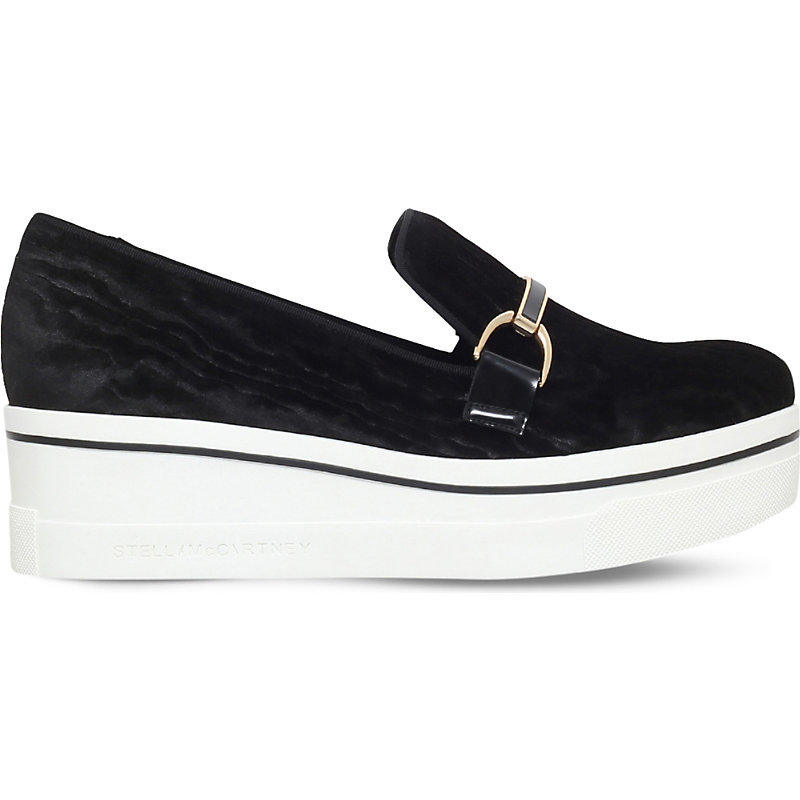 Binx Suffolk Faux Leather Loafers, Women's, Eur 40 / 7 Uk Women, Black - secondary colour: white; predominant colour: black; occasions: casual, creative work; material: faux leather; heel height: flat; embellishment: snaffles; toe: round toe; style: loafers; finish: plain; pattern: plain; shoe detail: platform; season: s/s 2016
