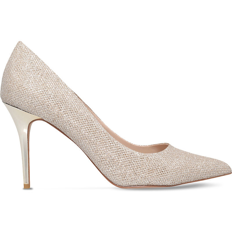 Goalie Shimmer Courts, Women's, Eur 40 / 7 Uk Women, Gold - predominant colour: silver; occasions: evening; material: leather; heel height: high; embellishment: crystals/glass; heel: stiletto; toe: pointed toe; style: courts; finish: plain; pattern: plain; season: s/s 2016; wardrobe: event