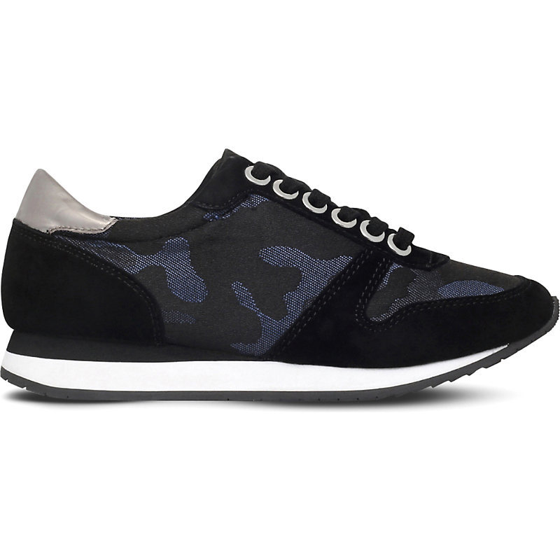 Libby Camouflage Suede Trainers, Women's, Eur 38 / 5 Uk Women, Blue - predominant colour: navy; occasions: casual; material: suede; heel height: flat; toe: round toe; style: trainers; finish: plain; pattern: camouflage; shoe detail: tread; season: s/s 2016; wardrobe: highlight