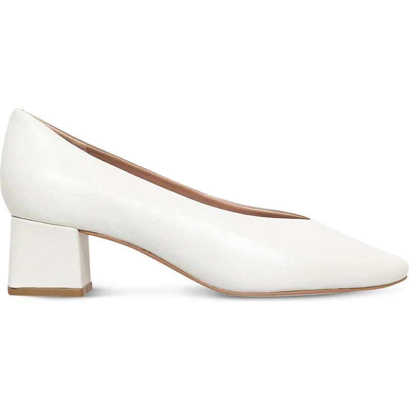 Antidote Square Toe Leather Courts, Women's, Eur 40 / 7 Uk Women, White - predominant colour: white; occasions: evening, occasion, creative work; material: leather; heel height: mid; heel: block; toe: pointed toe; style: courts; finish: plain; pattern: plain; season: s/s 2016; wardrobe: investment