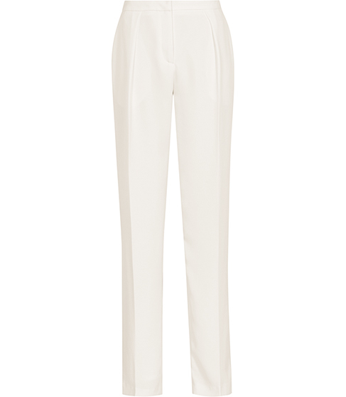 Cassie Fluid Tailored Trousers - length: standard; pattern: plain; waist: high rise; predominant colour: ivory/cream; fibres: polyester/polyamide - 100%; occasions: occasion; fit: tapered; pattern type: fabric; texture group: other - light to midweight; style: standard; season: s/s 2016; wardrobe: event