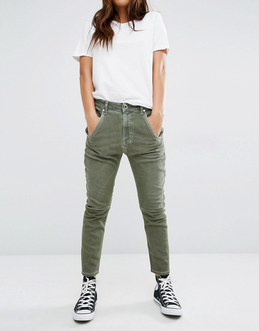 Fayza Low Waist Relaxed Boyfriend Jean Military Green - style: boyfriend; length: standard; pattern: plain; pocket detail: traditional 5 pocket; waist: mid/regular rise; predominant colour: khaki; occasions: casual; fibres: cotton - stretch; texture group: denim; pattern type: fabric; season: s/s 2016; wardrobe: highlight