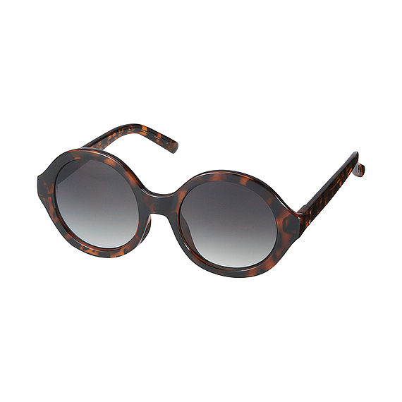 Women Round Shaped Sunglasses Brown - predominant colour: chocolate brown; occasions: casual, holiday; style: round; size: standard; material: plastic/rubber; pattern: tortoiseshell; finish: plain; season: s/s 2016; wardrobe: basic