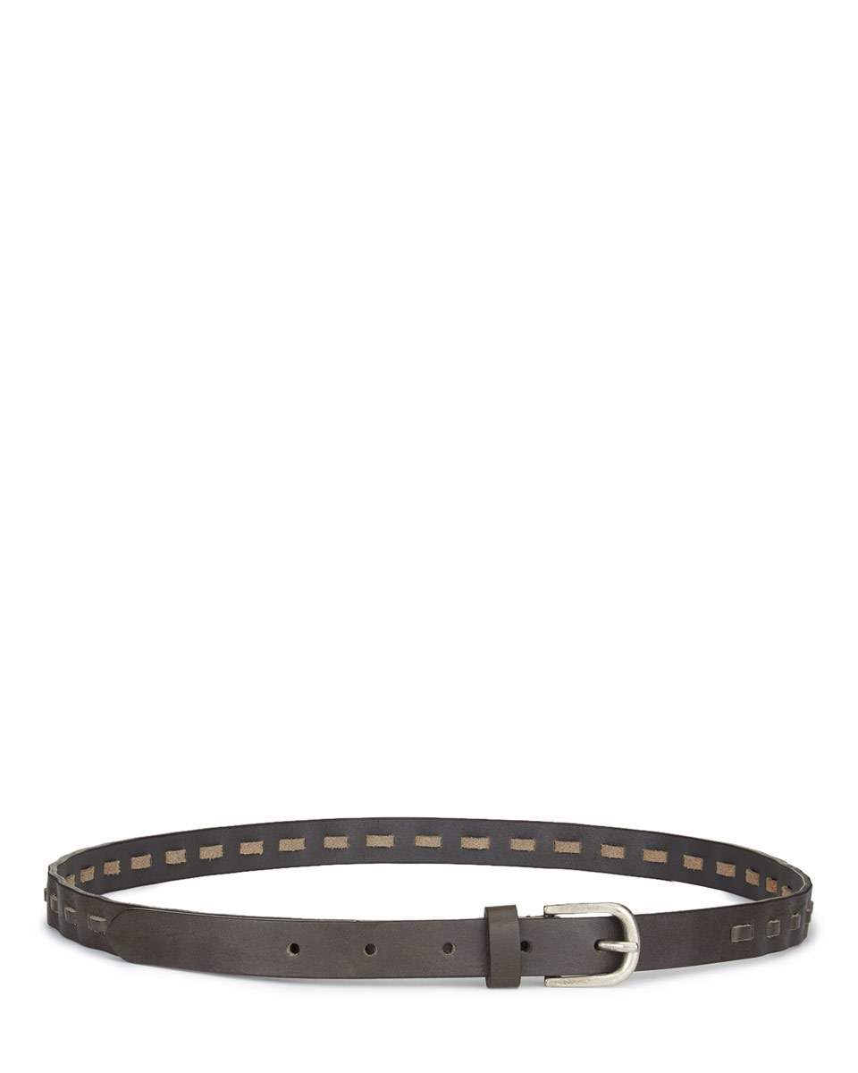 Bella Suede Mix Jeans Belt - predominant colour: chocolate brown; occasions: casual, creative work; type of pattern: standard; style: classic; size: skinny; worn on: hips; material: suede; pattern: plain; finish: plain; season: s/s 2016