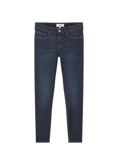 Kim Skinny Push Up Jeans - style: skinny leg; length: standard; pattern: plain; pocket detail: traditional 5 pocket; waist: mid/regular rise; predominant colour: navy; occasions: casual; fibres: cotton - stretch; jeans detail: dark wash; texture group: denim; pattern type: fabric; season: s/s 2016; wardrobe: basic