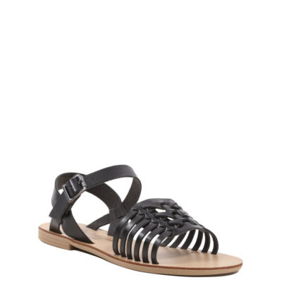 Gladiator Sandals Black - predominant colour: black; occasions: casual, holiday; material: lace; heel height: flat; heel: block; toe: open toe/peeptoe; style: gladiators; finish: plain; pattern: plain; season: s/s 2016; wardrobe: highlight