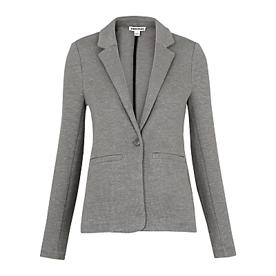 Molly Cotton Jacket - pattern: plain; style: single breasted blazer; collar: standard lapel/rever collar; predominant colour: mid grey; occasions: work; length: standard; fit: tailored/fitted; fibres: cotton - 100%; sleeve length: long sleeve; sleeve style: standard; texture group: cotton feel fabrics; collar break: medium; pattern type: fabric; season: s/s 2016; wardrobe: investment