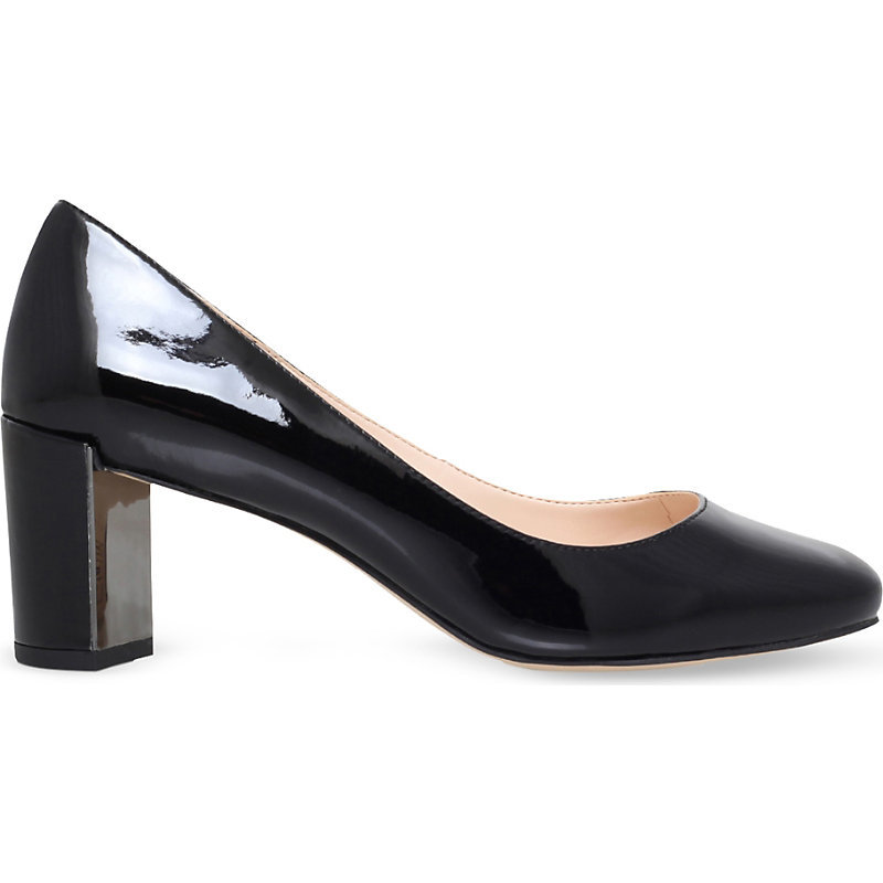 Franny3 Patent Heeled Courts, Women's, Eur 37 / 4 Uk Women, Black - predominant colour: black; occasions: work; material: leather; heel height: high; heel: block; toe: pointed toe; style: courts; finish: patent; pattern: plain; season: s/s 2016; wardrobe: investment